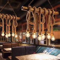 Подвесной светильник LOFT [ Crossbar ] (6 Lamp Edisons)
