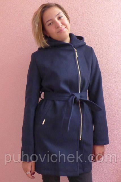 Модное кашемировое пальто на девочку подростка