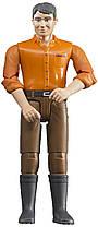Bruder Фигурка мужчины в темно - коричневых джинсах ( 60007)