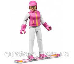 BRUDER  Фигурка сноубордистки с аксессуарами (60420)
