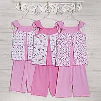 .Пижама на девочку 5_7_9лет,2213роз, хлопок-рибана, в наличии 116,128,140 Рост