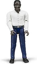 Bruder Фигурка  мужчины в темно - синих джинсах ( 60004)