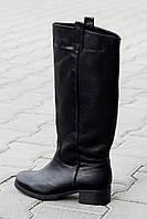 Женские кожаные сапоги Демисезонные