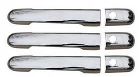 Накладки на ручки (нержавейка) - Mercedes Vito W638 (1996-2003) 3шт.