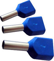 Наконечники трубчатые на два провода ТЕ 1,0-08 (упак 100шт)