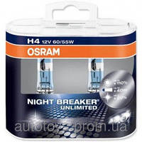 Автомобильные лампы , аксессуар для авто, освещение Osram H4 Night Breaker Unlimited %110 больше света
