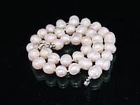 Бусы из жемчуга (Нт025), белые