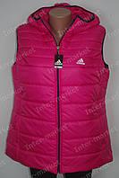 Женская спортивная жилетка безрукавка ADIDAS батал розовая