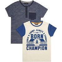 """Набор из 2х футболок George UK """"Рожденный чемпионом"""""""