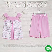 Пижамы детские, на девочку 116см, 1117GERDA хлопок-климакотон, в наличии 116,122,128 Рост, фото 3