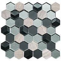 Мозаика мрамор стекло Vivacer SB03