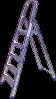 Стремянка алюминиевая односторонняя 4 ступени БЕГЕМОТ™