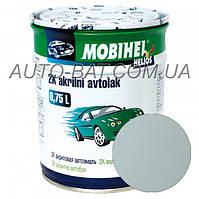 Автоэмаль двухкомпонентная автокраска акриловая (2К) 671 Светло-серая Mobihel, 0,75 л