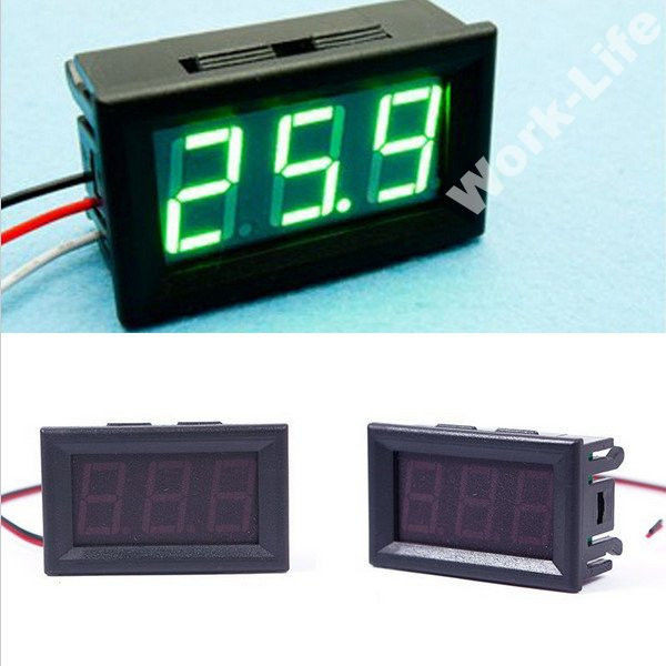 Цифровой вольтметр DC 0-30V (Зеленый) 3P