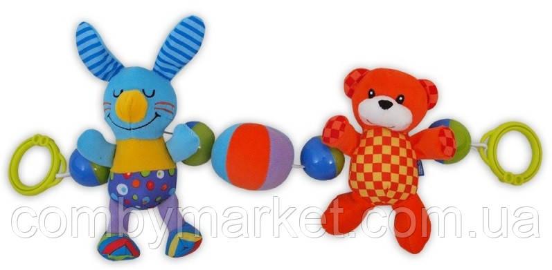 Игрушка в коляску Baby Mix TE-8165B Кролик и Мишка
