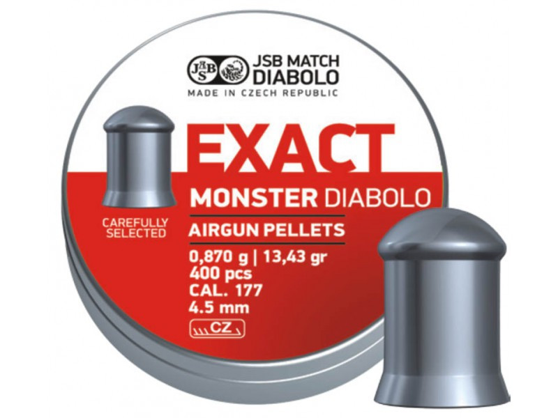 Пули JSB Exact Monster Diabolo, 0,87 г. 4,52 мм (400 шт.)