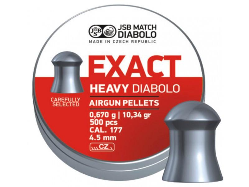 Пули JSB Diablo Exact Heavy, 0,67 г. 500 шт. (4.52 мм)