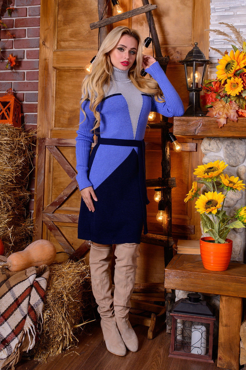 Вязаное платье Корсет