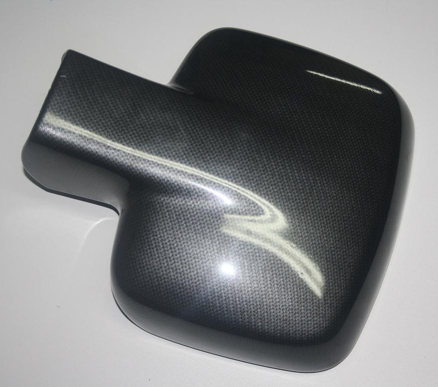 Накладки  на зеркала (2 шт, карбон) - Mercedes Vito W638 (1996-2003)