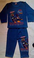 Пижама на байке детская для мальчика 4-12 лет Турция