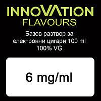 Никотиновая основа Innovation Flavours 100%VG 6mg 100 ml