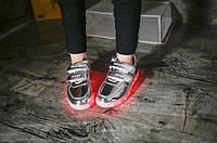 Детские LED Кроссовки Серебро, фото 1