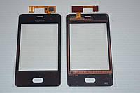 Оригинальный тачскрин / сенсор (сенсорное стекло) для Nokia Asha 501 (черный цвет, самоклейка)