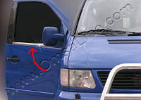 Окантовка стекла (2 шт, нерж) - Mercedes Vito W638 (1996-2003)