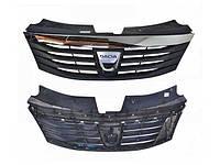 Решётка радиатора хром 09- Dacia Logan