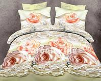 Семейный комплект постельного белья Розы и жемчуг