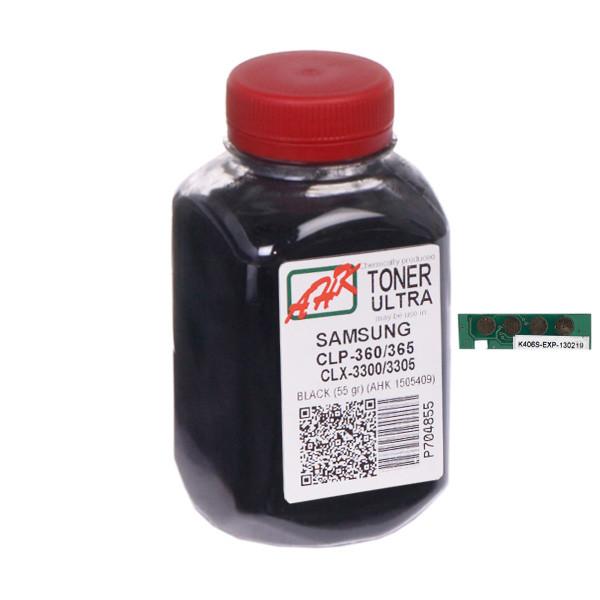 Тонер+чип АНК для Samsung CLP-360/365/CLX-3300/3305 ( тонер АНК, чип АНК) 55г Black (1505413) Ultra