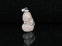 """Кулон """"снеговик"""" из розового кварца"""