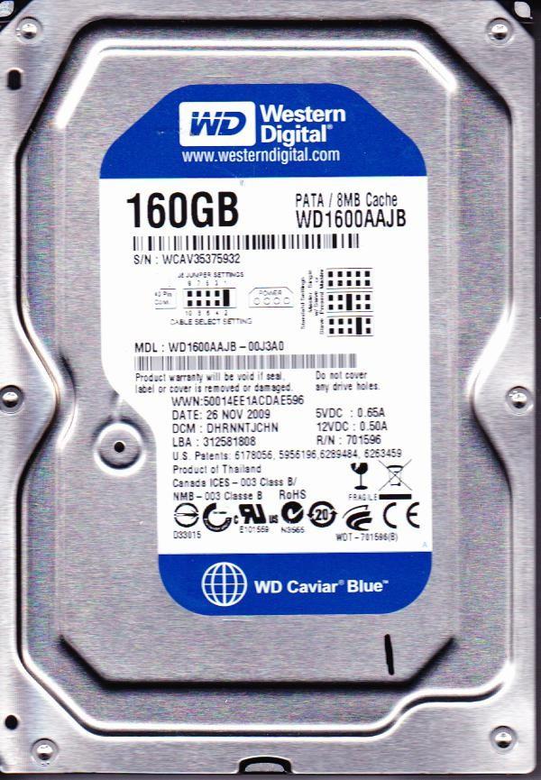 """Жесткий диск бу HDD SATA  160Gb Western Digital - Интернет-магазин """"BIOS""""  в Полтаве"""