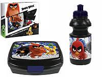 """Набор """"Angry Birds (Злые птицы)"""": ланчбокс для завтрака + бутылка"""