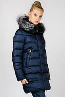 Зимняя женская удлиненная куртка с натуральным мехом Snow Clasic