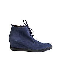 Женские ботинки Windrose 1605 син. нубук