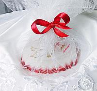 Мыло с именами жениха и невесты - подарки гостям свадьбы.