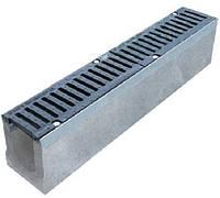 Лоток водоотводный бетонный DN100 H130 1000*140*125 мм