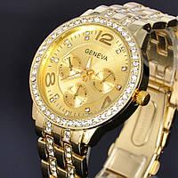 Женские наручные часы GENEVA Swarovski золотые