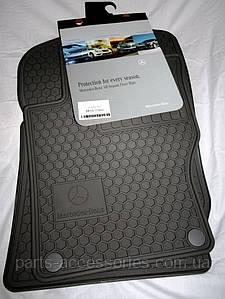 Коврики в салон серые резиновые Mercedes GL GL-Class X164 2006-12 GL320 GL350 GL450 GL550 новые оригинал