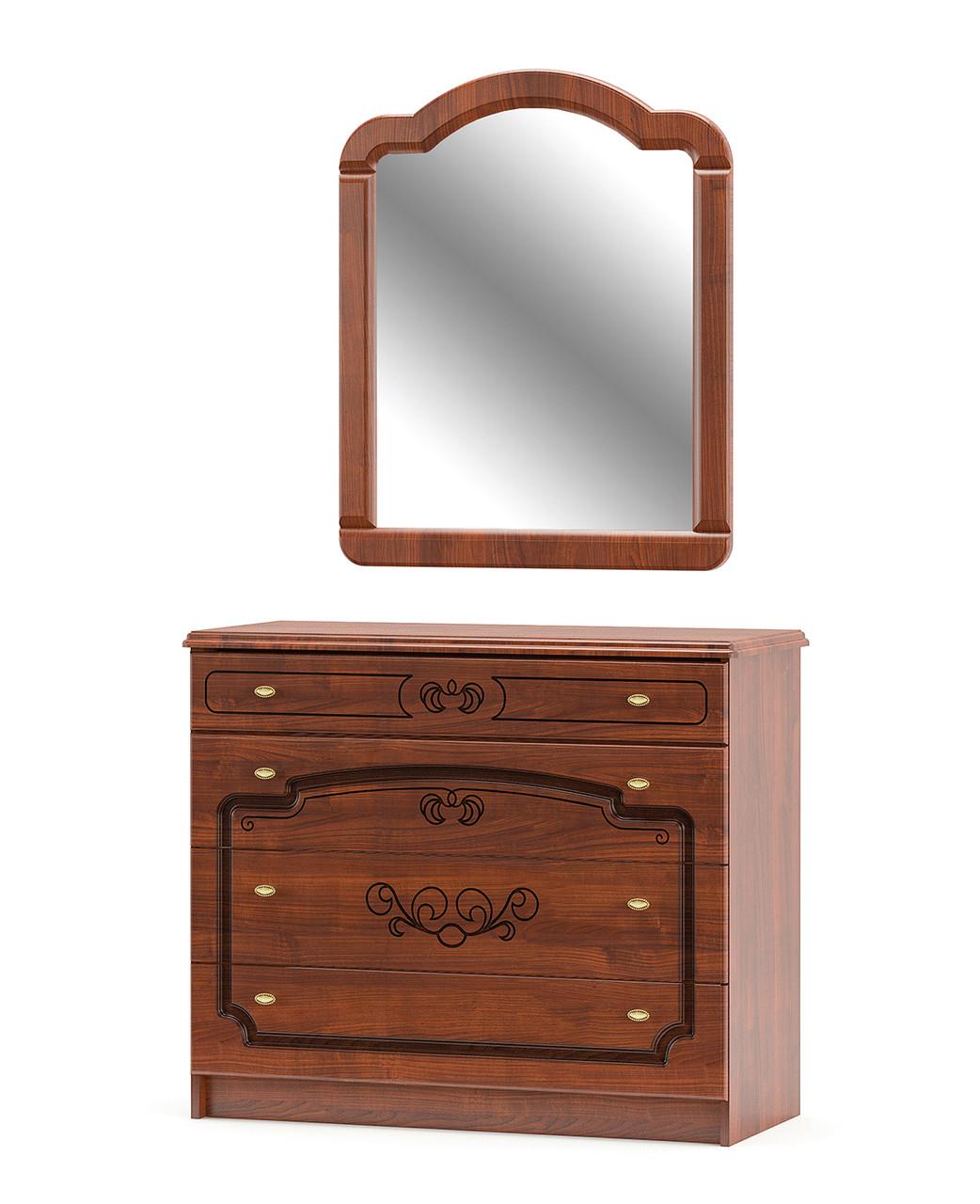 Комод + зеркало Бароко Мебель-сервис