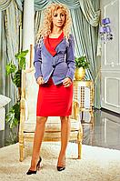 Стильный женский костюм двойка (платье и жакет) р-р M