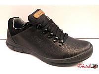 Полуботинки-кроссовки мужские ECCO кожа черные E0001