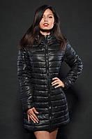 Куртка приталенного силуэта, удлиненная