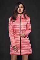 Зимняя женская куртка нежно-розового цвета