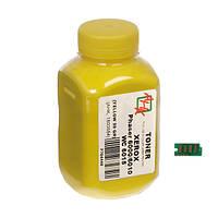 Тонер+чип АНК для Xerox Phaser 6000/6010 ( тонер АНК, чип АНК) бутль 20г Yellow (1500254) регион 1 и 3