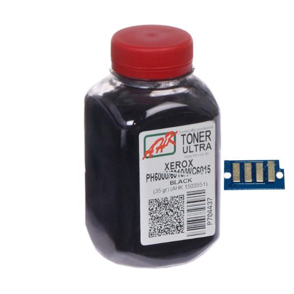 Тонер+чип АНК для Xerox Phaser 6000/6010 ( тонер АНК, чип АНК) бутль 35г Black (1500255) регион 2 и 4