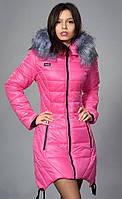 Яркая розовая куртка на зиму