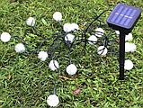 Гирлянда на солнечной батарее Праздничные огни желтые 7м 50LED, фото 2