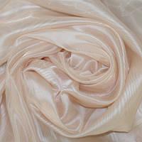 Тюль Микровуаль Сати персиковый, однотонная + высококачественный пошив
